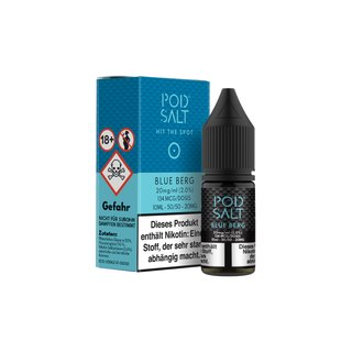 Pod Salt - Blue Berg - E-Zigaretten Nikotinsalz Liquid 20mg/ml